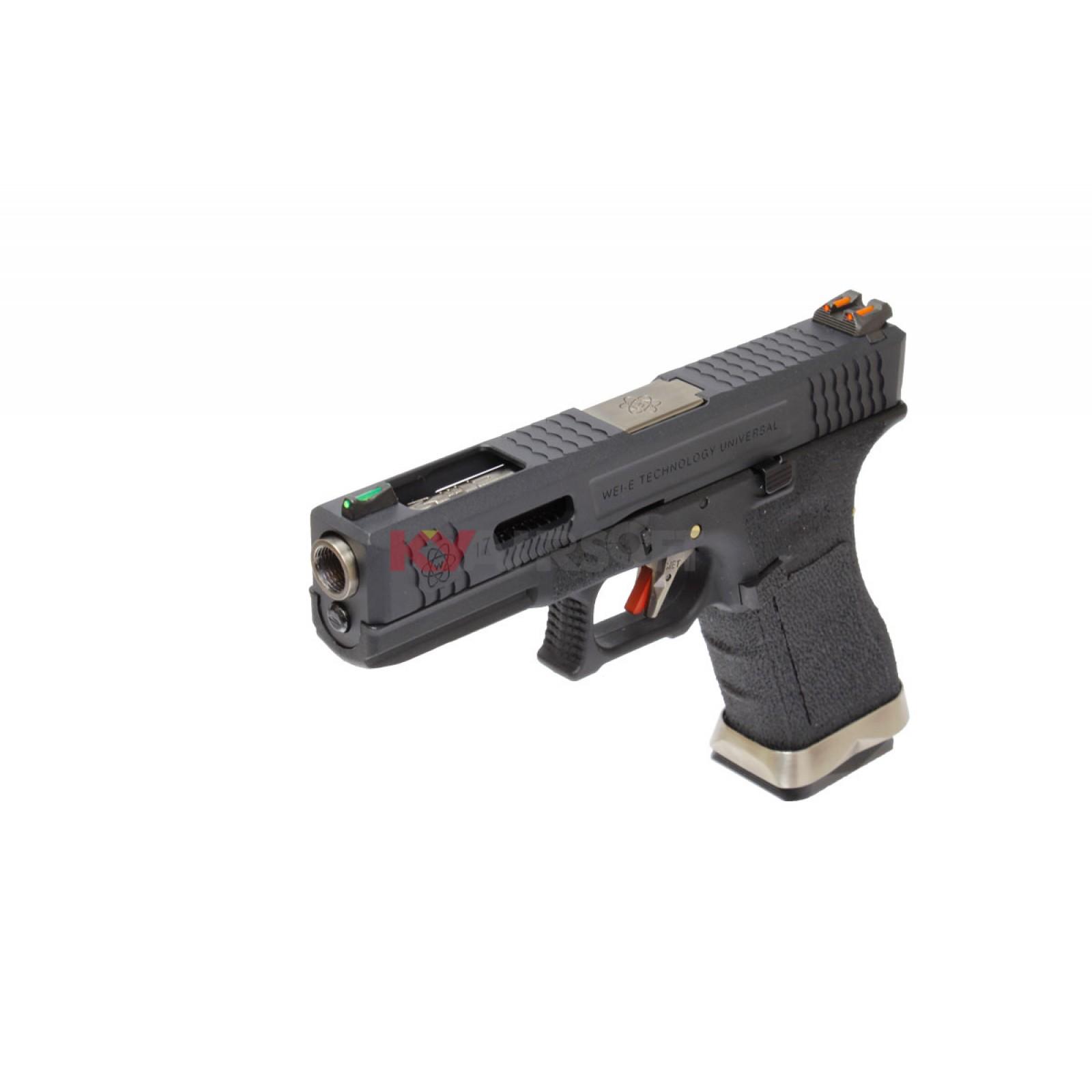 WE G17 T5 - BK Slide/SV Barrel/BK Frame - G17 - WE G Series (Glock