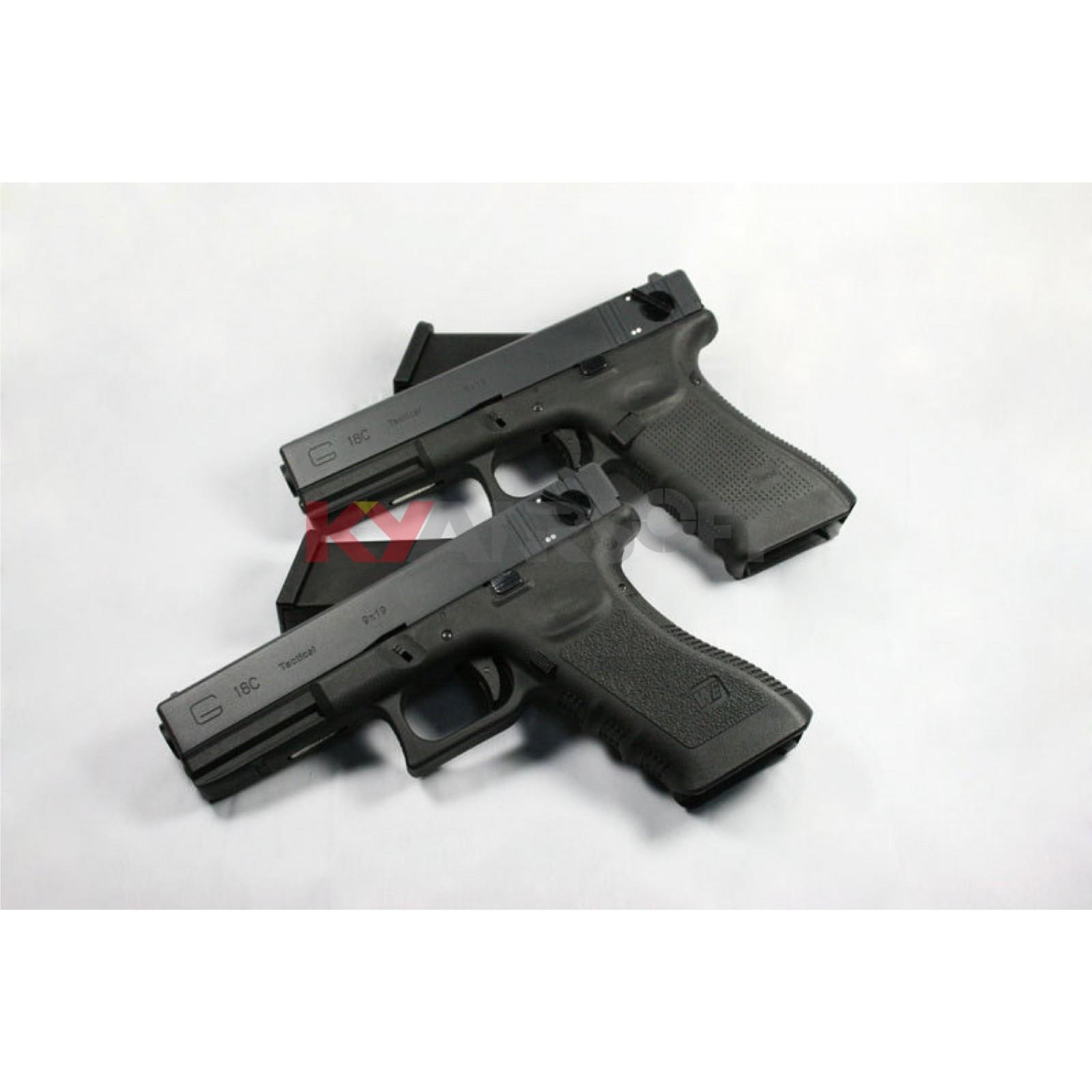 WE G18C GEN3 Black - G18C - WE G Series (Glock) - WE Pistols