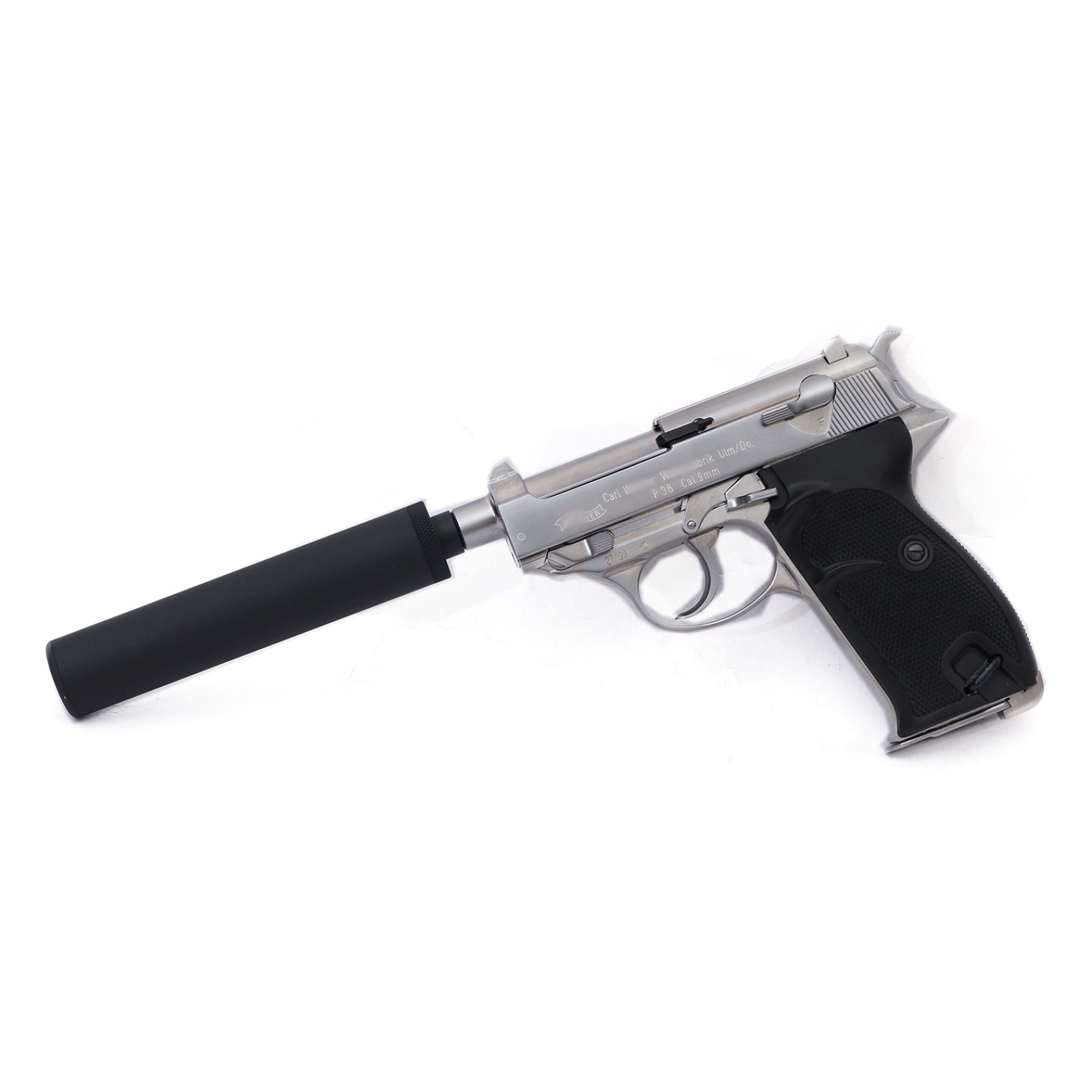 WE P38K GBB Pistol (Silver, Full marking, CIV) - WE World