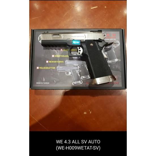 WE HI-capa 4.3 allosaurus Silver GBB Pistol (Full Auto version)