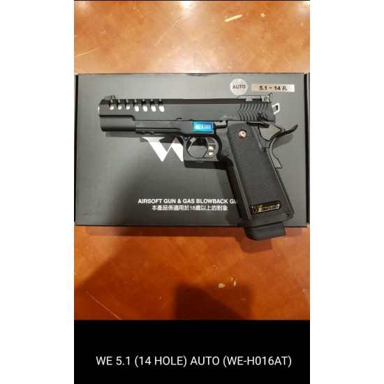 WE HI-capa 5.1 14 Port GBB Pistol (Full Auto version)