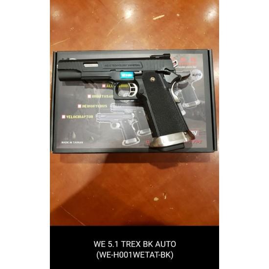 WE HI-capa 5.1 TREX Black GBB Pistol (Full Auto version)