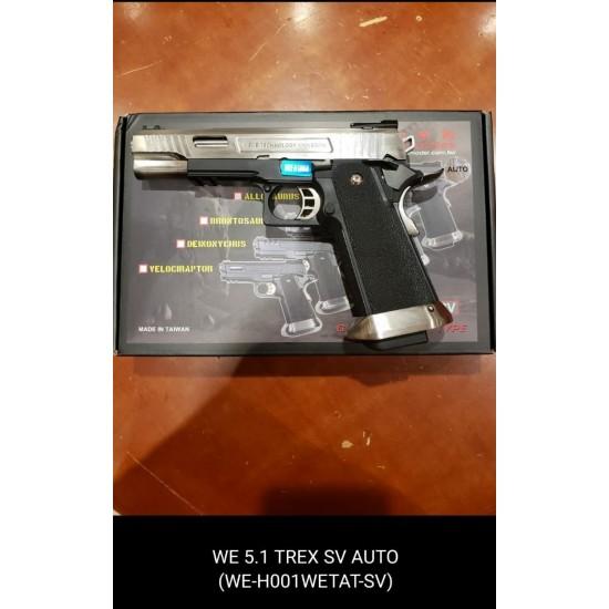 WE HI-capa 5.1 TREX Silver GBB Pistol (Full Auto version)