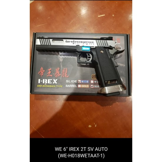 "WE HI-capa 6"" IREX GBB Pistol (Full Auto version / 2 Tone / Silver barrel )"