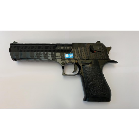 CYBERGUN LICENSED DESERT EAGLE .50 GBB PISTOL (Tiger stripe BLACK)