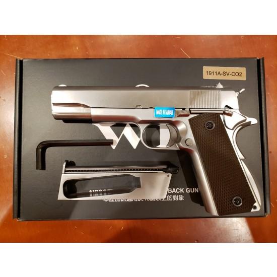 WE 1911 Gas blow back pistol CO2 version(Silver)