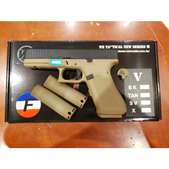 WE G17F Gen 5 GBB pistol(Black/TAN)