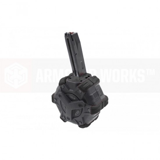 AW Customs - ADAPTIVE 300RDS DRUM MAGAZINE - (M9) MB SERIES(Black)