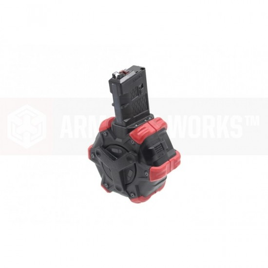 AW Customs - ADAPTIVE 300RDS DRUM MAGAZINE - (M4) AR SERIES