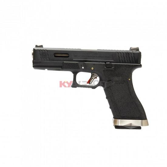 WE G17 T5 - BK SLIDE/SV BARREL/BK FRAME (2 magazines bundle)