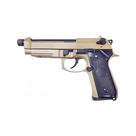 KJ Works M9A1 TBC Full metal GBB Pistol (TAN)