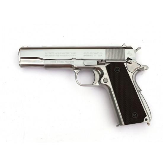 WE 1911 Silver GBB Pistol ( Horse WWI Marking)
