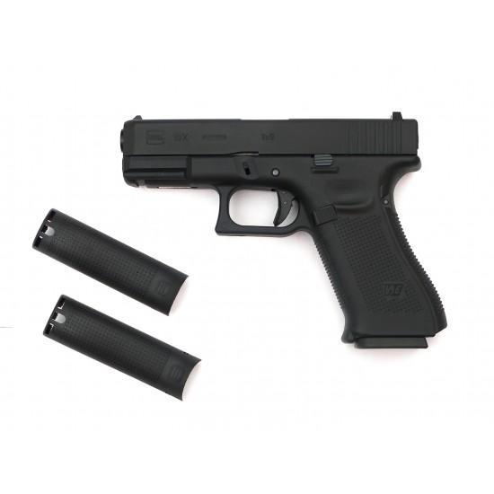 WE G19XL GBB pistol BK (Custom CNC marking)