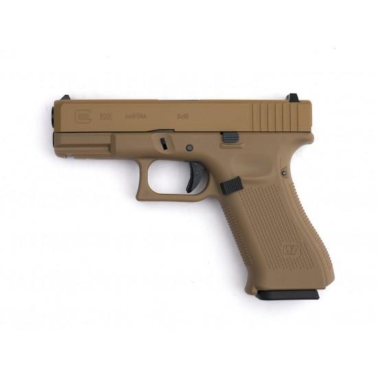WE G19XL GBB pistol TAN (Custom CNC marking)