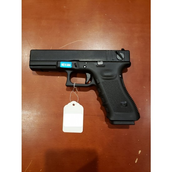 WE G18 GEN 3 GBB Pistol Black(All-Plain-Version)