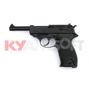 WE P38 Black Classic Pistol (Full marking, 100 YEAR )