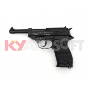 WE P38 Black Classic Pistol (Full marking, CIV-WHITE)