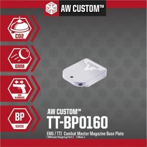 EMG / TTI COMBAT MASTER MAGAZINE BASE PLATE (NO CHARGING PORT- SILVER)
