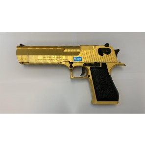 CYBERGUN LICENSED DESERT EAGLE .50 GBB PISTOL (Tiger stripe GOLD)