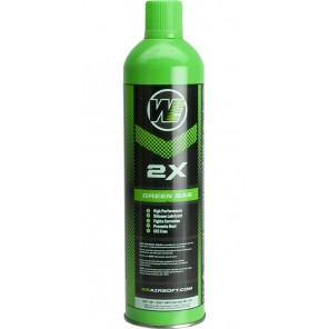 "Airsoft Premium ""2X"" High Performance Gas 1000mlWE (Qty: 1 Can / Green)  ( Ship by Surface Mail Only )"
