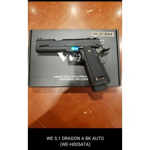 WE HI-capa 5.1 Dragon A Black GBB Pistol (Full Auto version)