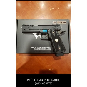 WE HI-capa 5.1 Dragon B Black GBB Pistol (Full Auto version)