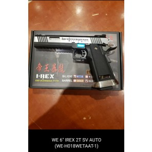 "WE HI-capa 6"" IREX GBB Pistol (Full Auto version / 2 Tone / Silver barrel )"