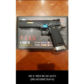 "WE HI-capa 6"" IREX GBB Pistol (Full Auto version / Black / Gold barrel )"