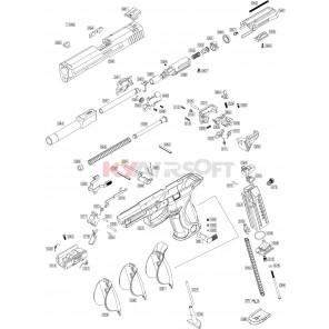 WE BB (Bird) M&P9 Series - Nozzle Assemblies