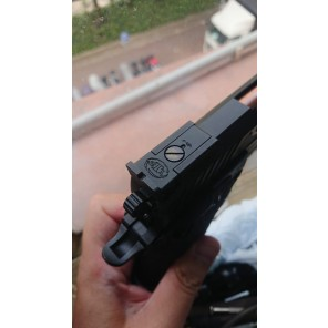 (Add-on)CNC custom marking for EMG STI TTI Combat master 2011 (Rear sight)