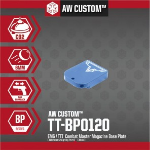 EMG / TTI COMBAT MASTER MAGAZINE BASE PLATE (NO CHARGING PORT- BLUE)