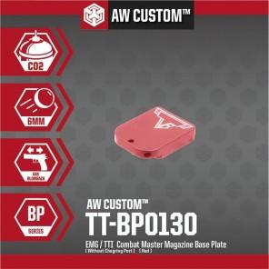 EMG / TTI COMBAT MASTER MAGAZINE BASE PLATE (NO CHARGING PORT- RED)