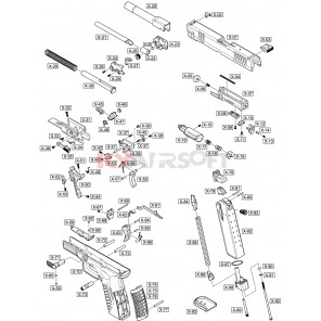 X 4.5 #X-61 Trigger Lever Black GBBP