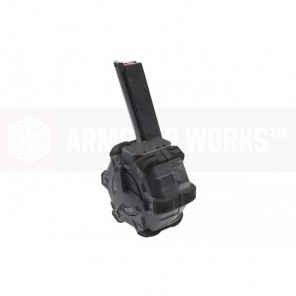 AW Customs - ADAPTIVE 300RDS DRUM MAGAZINE - (1911) NE SERIES (Black)