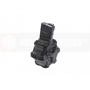 AW Customs - ADAPTIVE 300RDS DRUM MAGAZINE - (M4) AR SERIES(Black)
