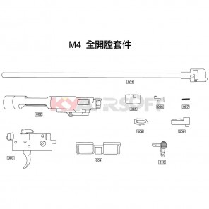 M4 Open Bolt Kit #9 GBBR