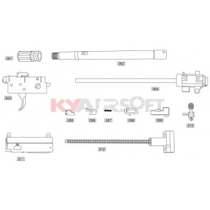 SCAR L Open Bolt Kit #8 GBBR