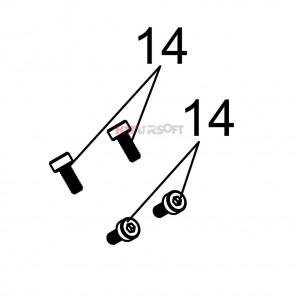 MSK #14 [1 Screw Only Handguard Set] GBBR
