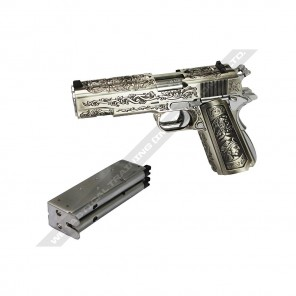 WE - Double barrel 1911 Incan Warrior Engraved Version