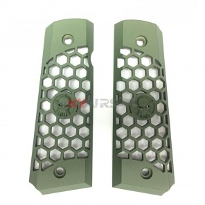 WE 1911 Hex Cut Grips Green