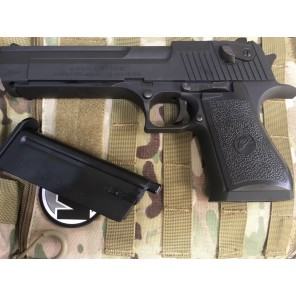 WE - Cybergun licensed Desert Eagle .50 Cal GBB pistol with marking (Black)