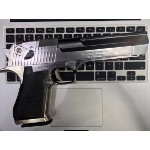 WE - Cybergun licensed Desert Eagle .50 Cal GBB pistol with marking (Electroplating Silver)