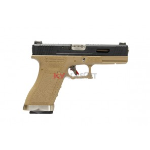 WE G17 T2 -  BK Slide / SV Barrel / TAN Frame