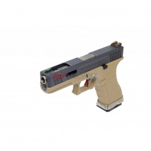 WE G17 T2 (BK/SV//TAN) (2 Magazine bundle)