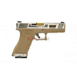 WE G17 T4 (SV/GD/TAN)(2 magazines bundle)