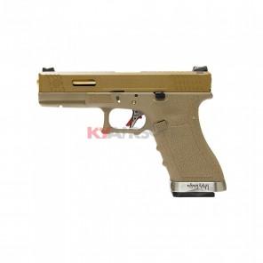 WE G17 T9 - TAN SLIDE/GD BARREL/TAN FRAME (2 magazines bundle)