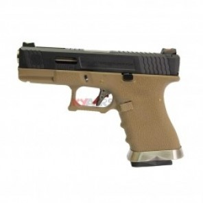WE G19 T2 BK/SV/TAN (2 Magazine bundle)