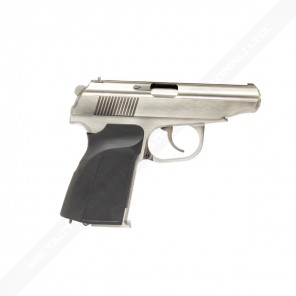 WE Metal MAKAROV GBB Pistol with Silencer Silver