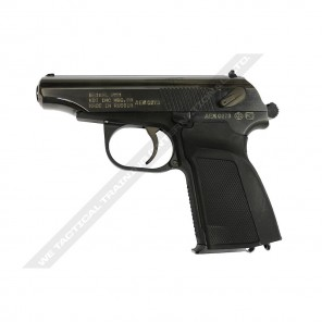 WE Metal MAKAROV GBB Pistol with Silencer Black - Full Marking