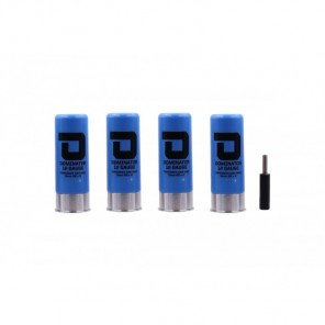 DOMINATOR™ 12 GAUGE GAS SHOTGUN SHELLS PACKAGE (4 SHELLS/UNIT - Blue)